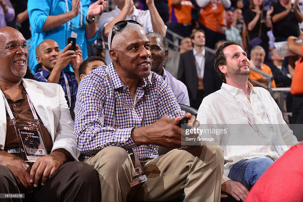 NBA legend Julius Irving attends the Phoenix Suns game against the Brooklyn Nets on March 24, 2013 at U.S. Airways Center in Phoenix, Arizona.