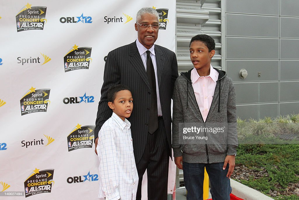 NBA Legend <a gi-track='captionPersonalityLinkClicked' href=/galleries/search?phrase=Julius+Erving&family=editorial&specificpeople=202966 ng-click='$event.stopPropagation()'>Julius Erving</a> poses for a photo prior to the 2012 NBA All-Star Game presented by Kia Motors as part of 2012 All-Star Weekend at the Amway Center on February 26, 2012 in Orlando, Florida.