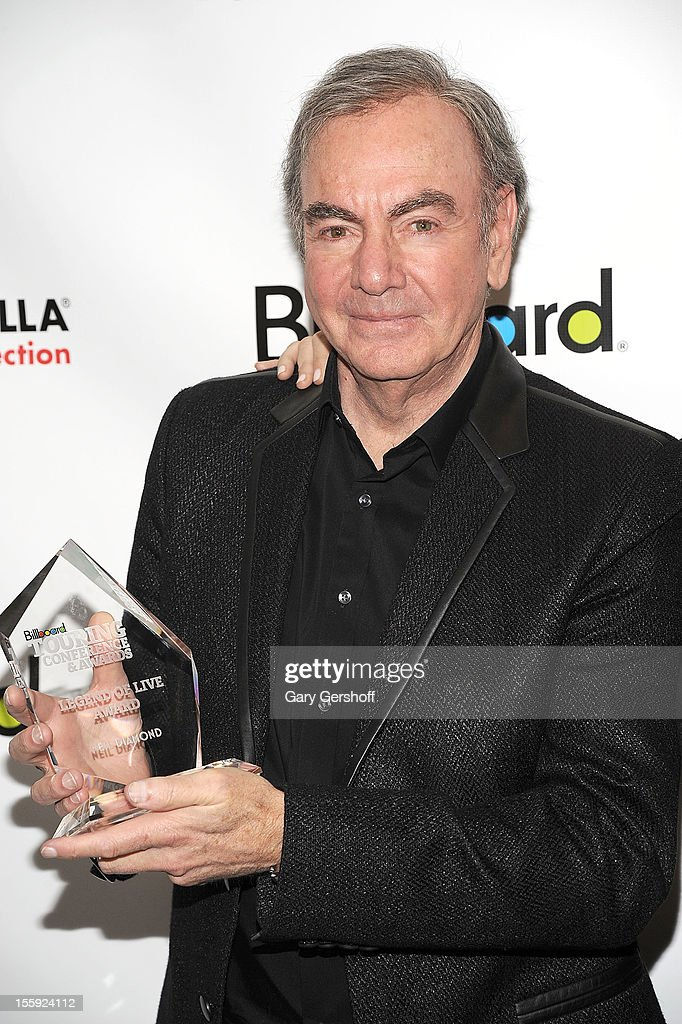 'Legend of Live' award recipient <a gi-track='captionPersonalityLinkClicked' href=/galleries/search?phrase=Neil+Diamond&family=editorial&specificpeople=210635 ng-click='$event.stopPropagation()'>Neil Diamond</a> attends the 2012 Billboard Touring Awards Reception at The Roosevelt Hotel on November 8, 2012 in New York City.
