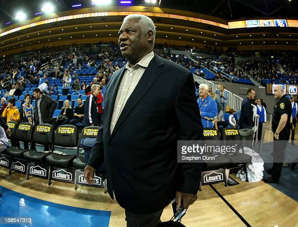 NBA legend Oscar Robertson attends the game between the Long Beach State 49ers and the UCLA Bruins at Pauley Pavilion on December 18 2012 in Los...
