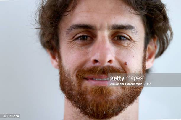 Legend Pablo Aimar of Argentina poses after a interview at The Diplomat Radisson BLU Hotel on May 10 2017 in Manama Bahrain