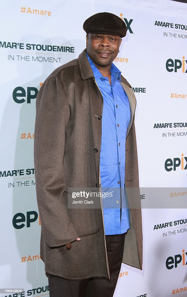 Legend Patrick Ewing attends the 'Amar'e Stoudemire: In The Moment' New York Premiere at Marquee on April 18, 2013 in New York City.