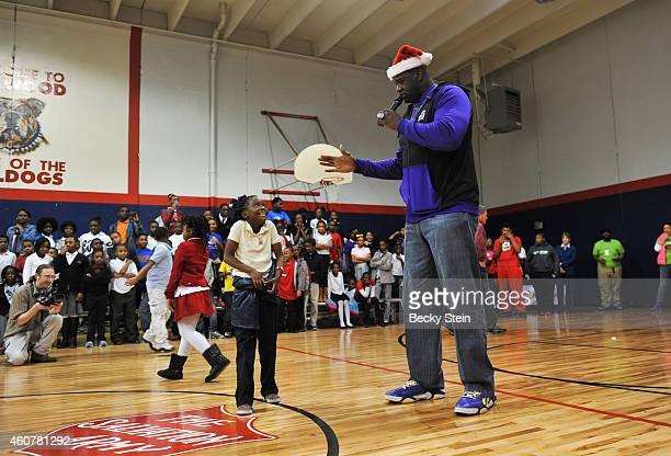 Legend Shaquille O'Neal hosts a Holiday Party at the Salvation Army Boys and Girls Club on December 21 2014 in Atlanta Georgia NOTE TO USER User...