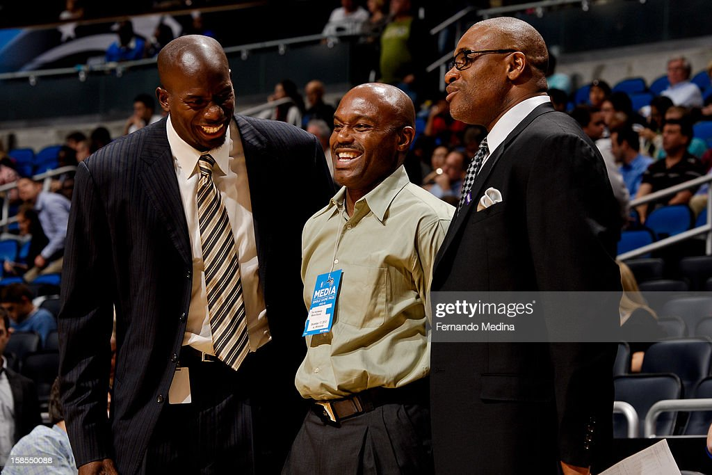NBA legend Tim Hardaway, who is now a scout, attends a game between the Orlando Magic and Minnesota Timberwolves on December 17, 2012 at Amway Center in Orlando, Florida.