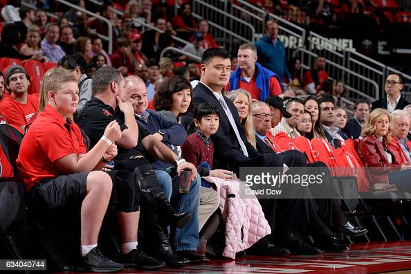 Legend Yao Ming attends the Chicago Bulls against the Houston Rockets on February 3 2017 at the Toyota Center in Houston Texas NOTE TO USER User...