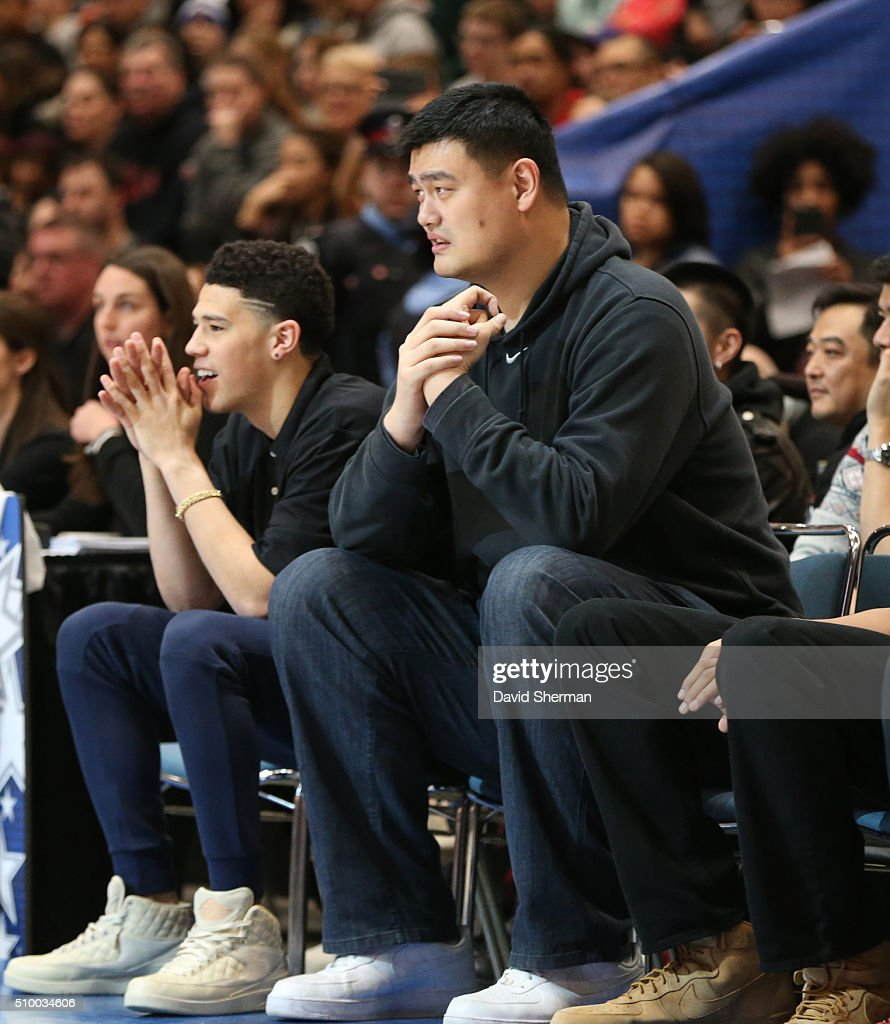 NBA Legend Yao Ming looks on during the NBA Cares Special Olympics Unified Game as part of 2016 All-Star Weekend at the Enercare Centre on February 13, 2016 in Toronto, Ontario, Canada.
