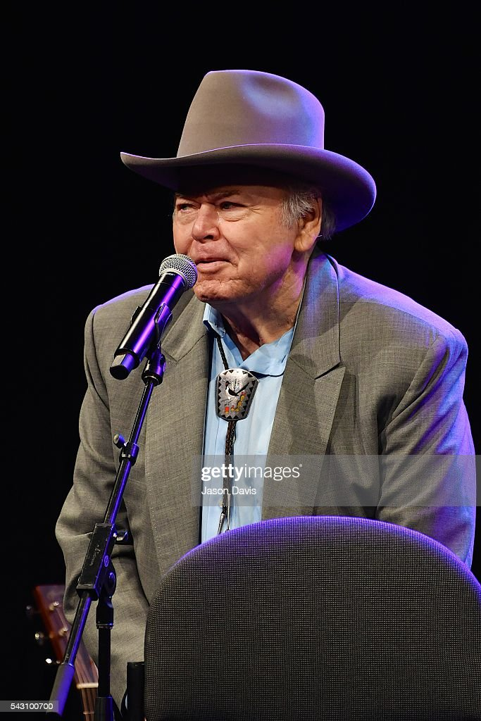 Legendary Artist <a gi-track='captionPersonalityLinkClicked' href=/galleries/search?phrase=Roy+Clark&family=editorial&specificpeople=1066886 ng-click='$event.stopPropagation()'>Roy Clark</a> performs during the 33rd Annual American Eagle Awards during Music Industry Day at Summer NAMM in Music City Center on June 25, 2016 in Nashville, Tennessee.