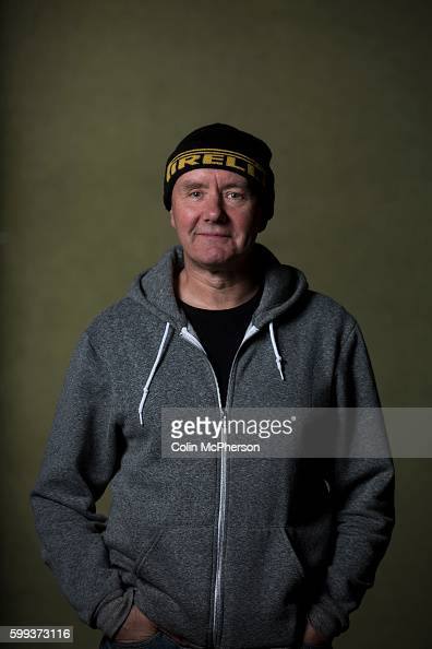 Legendary bestselling Scottish author of 'Trainspotting' Irvine Welsh pictured at the Edinburgh International Book Festival where he talked about his...