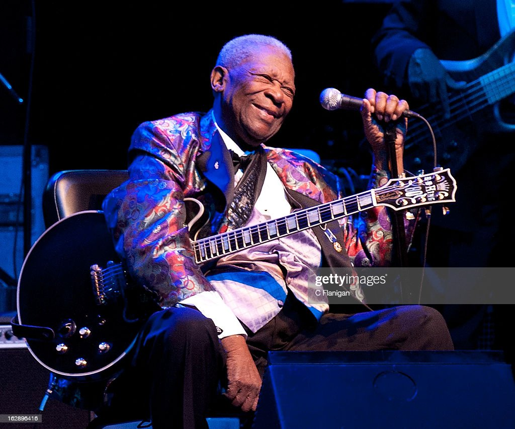 Legendary Blues Musician BB King performs at The Fox Theatre on February 28 2013 in Oakland California