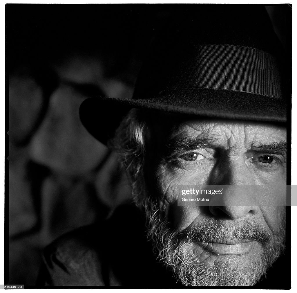 Legendary country singer Merle Haggard Merle Haggard is photographed at the Muddy Moose Bar at the Sportsmen's Lodge Event Center for Los Angeles Times on April 4, 2004 in Los Angeles, California. PUBLISHED IMAGE.