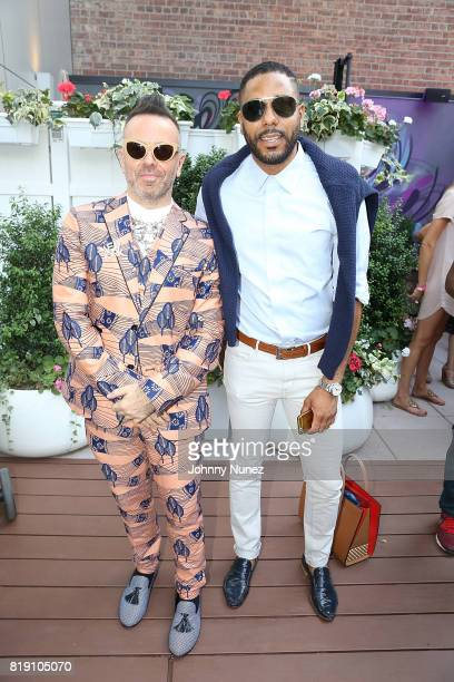 Legendary Damon and BJ Coleman attends A Toast To Summer Hosted By Simone I Smith at Aloft LICNY Hotel on July 19 2017 in New York City