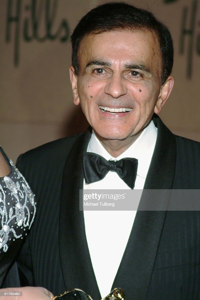Legendary DJ Casey Kasem arrives at the Museum of Television and Radio's gala tribute to Barbara Walters, held on November 15, 2004 at the Beverly Hills Hotel, in Beverly Hills, CA, California.