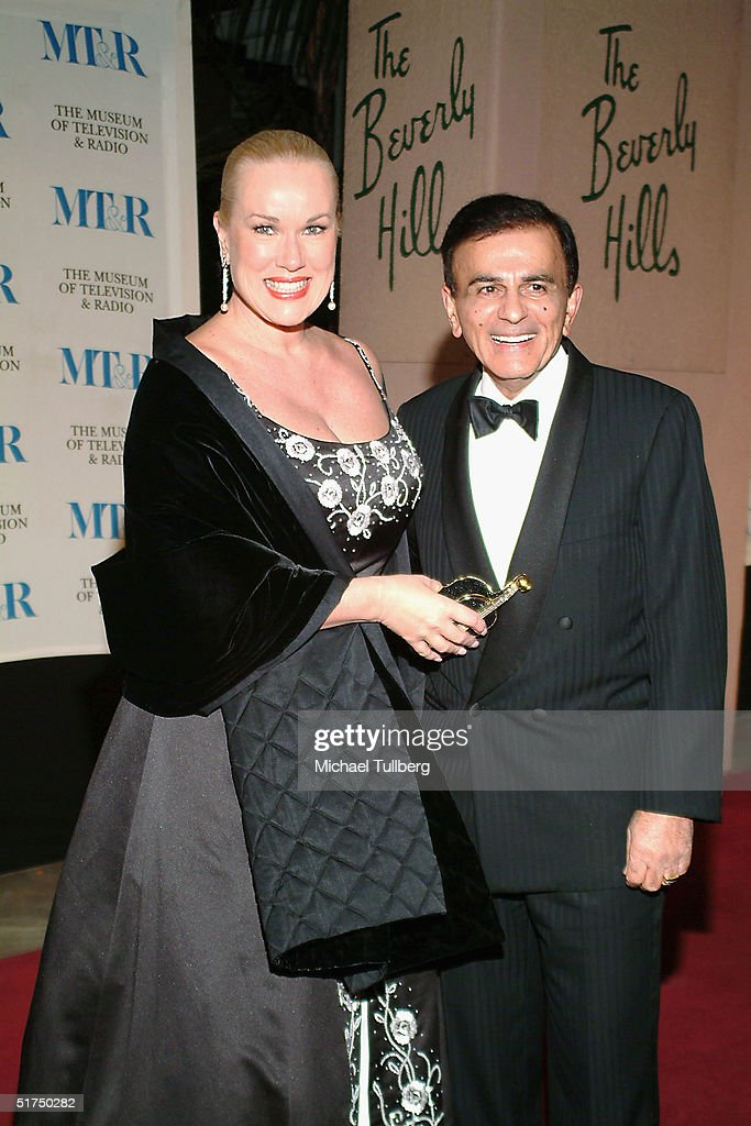 Legendary DJ Casey Kasem arrives with wife Jean at the Museum of Television and Radio's gala tribute to Barbara Walters at the Beverly Hills Hotel November 15, 2004 in Beverly Hills, California.