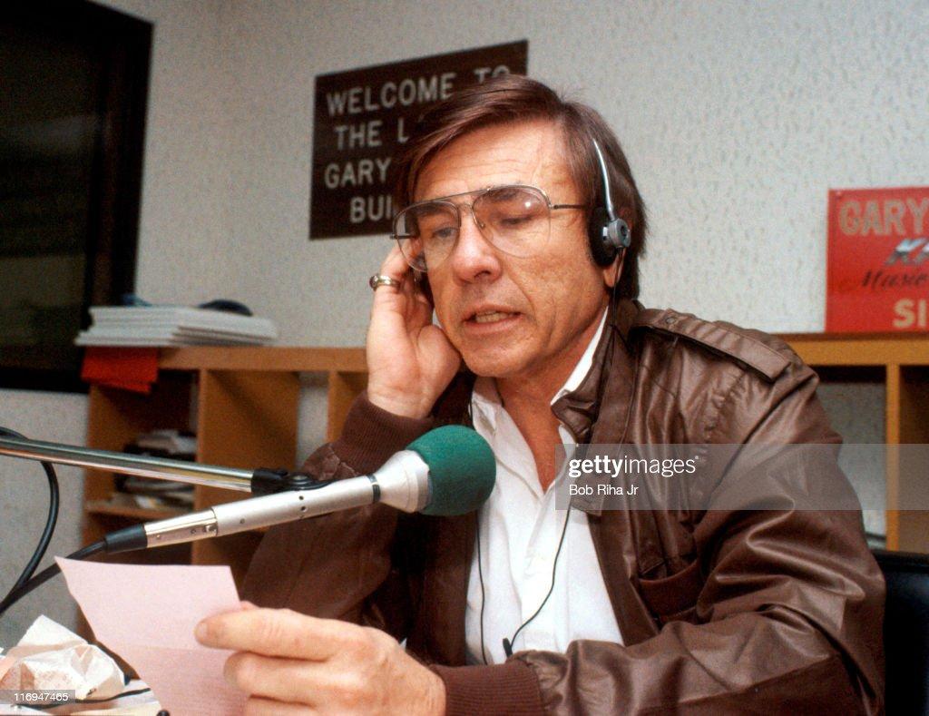 Legendary DJ Gary Owens during photo shoot on September 7 1983 in Los Angeles California