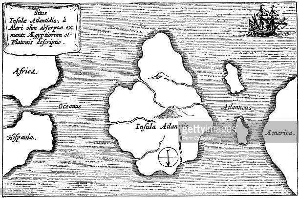 Legendary island of Atlantis Atlantis was first described by Plato and was said to lie just beyond the Pillars of Hercules Engraving after a...