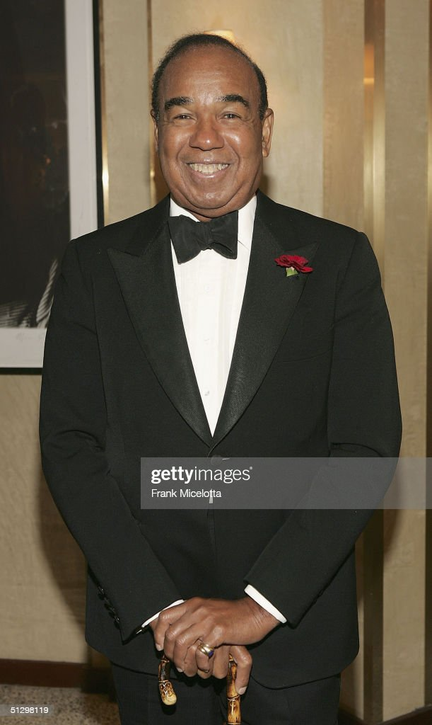 Legendary musician Bobby Short arrives at his surprise 80th birthday party, on September 12, 2004 at the Rainbow Room in New York City.