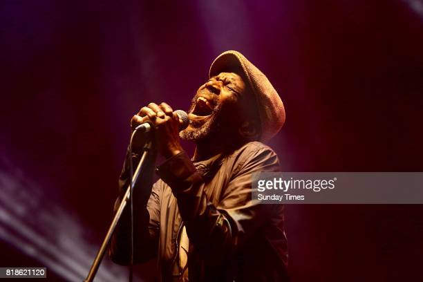 Legendary musician Ray Phiri performs during the Africa Day Jazz Concert at the Nasrec Expo Centre on May 27 2017 in Johannesburg South Africa The...