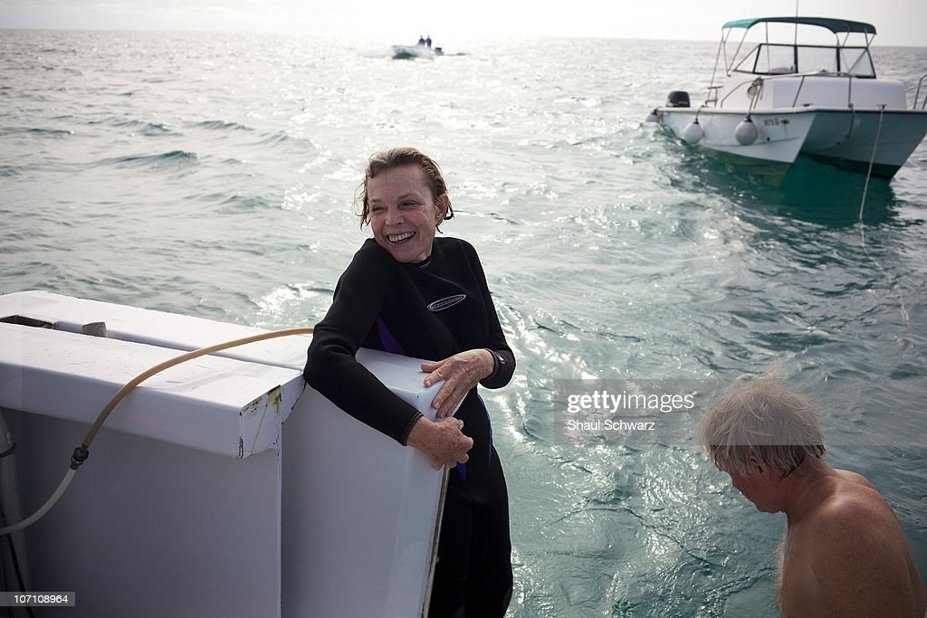 Legendary oceanographer Sylvia Earle is photographed during an expedition to the Sargasso Sea as part of her 'Mission Blue' campaign. Mission Blue's purpose is to explore the ocean while further protecting it. 'It's not enough that we protect 12% of our land but it's certainly not enough that we protect just a fraction of one percent of our oceans.' says Sylvia Earle, founder of the program. Earle is a National Geographic Explorer-in-Residence, sometimes called 'Her Deepness'. She led the Google Ocean Advisory Council, a team of 30 marine scientists providing content and scientific oversight for the 'Ocean in Google Earth.' To date, she has led over 70 expeditions, logging more than 6500 hours underwater. Among the more than 100 national and international honors she has received is the 2009 TED Prize for her proposal to establish a global network of marine protected areas.