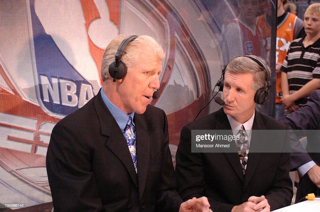 Legendary player and now broadcaster Bill Walton in the ESPN booth during the NBA Europe Live Tour presented by EA Sports on October 10 2006 at the...