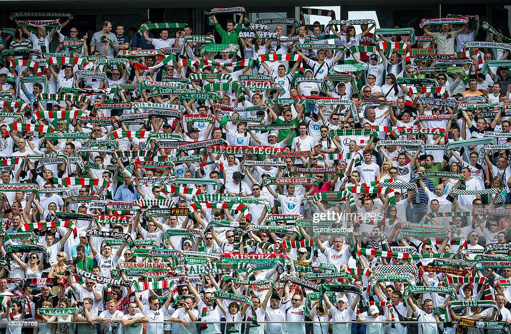 Legia Warszawa supporters during the Polish First Division between Legia Warszawa and KKS Lech Poznan held on May 18, 2013 at the Pepsi Arena in Warsaw, Poland.