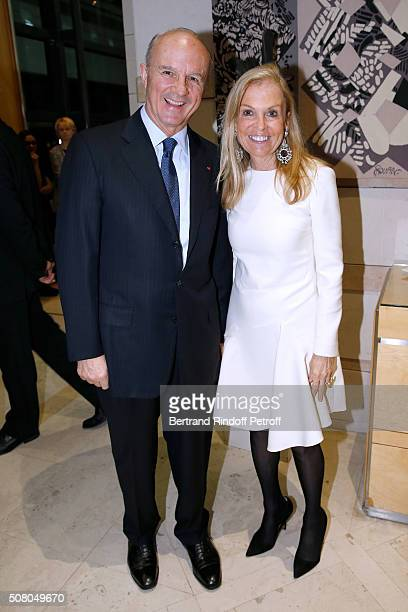Legion of Honor's Grand Chancellor General JeanLouis Georgelin and United States Ambassador to France Jane D Hartley attend President of l'Oreal...