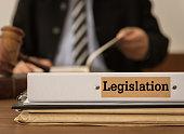 "legislation document folder on the desk of the judge. Concepts of law, legal.""n"