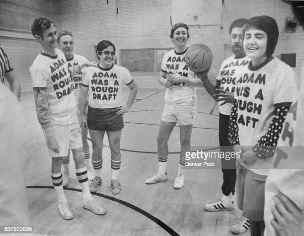 Legislative Cagers Follow Lead Of Lynn Brown Right In Donning Uniform Shirts Others from left are Rep Chuck Howe DBoulden Sen Eldon Cooper DAdams...