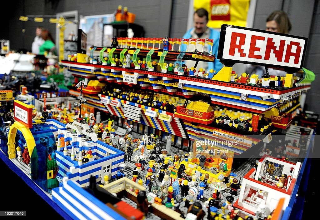 Lego arena at the Northern Modelling Exhibition at EventCity on March 3, 2013 in Manchester, England.