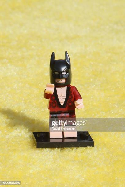 Lego Batman attends the Premiere of Warner Bros Pictures' 'The LEGO Batman Movie' at the Regency Village Theatre on February 4 2017 in Westwood...