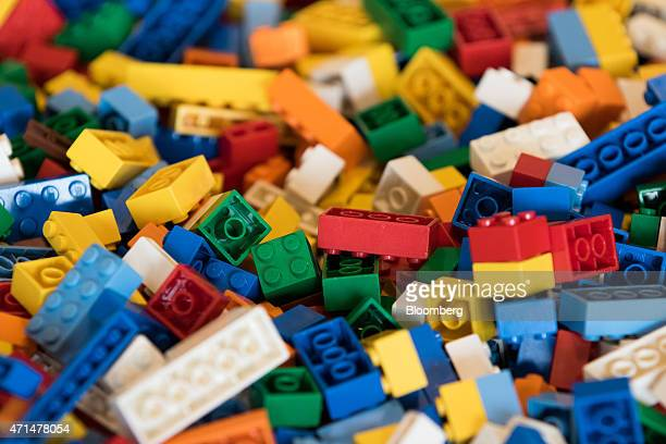 Lego bricks sit on a table in the cafeteria at the Naver Corp headquarters in Seongnam South Korea on Tuesday April 28 2015 Naver the parent company...
