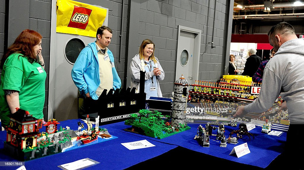 Lego collectors at the Northern Modelling Exhibition at EventCity on March 3, 2013 in Manchester, England.