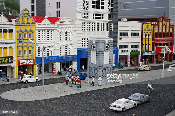 A Lego display of an inner city Kuala Lumpur street stands at Legoland Malaysia operated by Themed Attractions and Resorts Sdn in Kota Iskandar Johor...