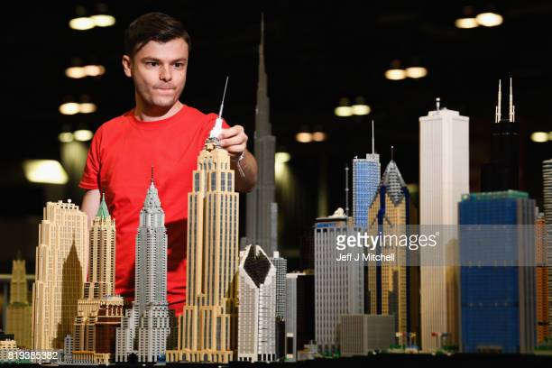 Lego enthusiast Rocco Buttliere display his models at Bricklive at the Scottish Exhibition and Conference Center on July 20 2017 in Glasgow Scotland...