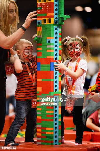 Lego enthusiasts attend the Bricklive at the Scottish Exhibition and Conference Center on July 20 2017 in Glasgow Scotland Europe's largest Lego...