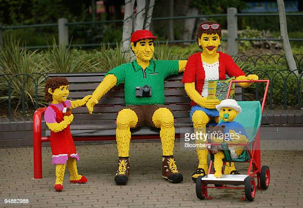 A 'Lego Family' seen at Legoland in Windsor Berkshire today Wednesday May 25 2005