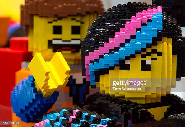 Lego figures are pictured at the Nuremberg International Toy Fair on January 29 2014 in Nuremberg Germany The Nuremberg toy fair which is the world's...