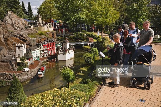 Lego model af Castle Phalz near Kaub in the Rhine Valley at Legoland Billund Jutland Denmark