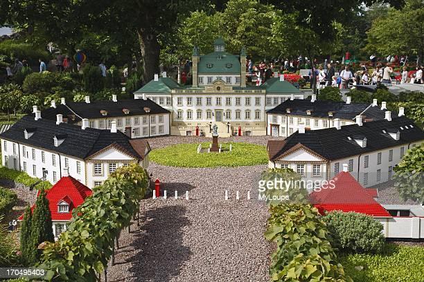 Lego model of the Fredensborg Palace at Legoland Billund Jutland Denmark