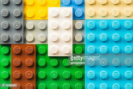 Lego pieces macro