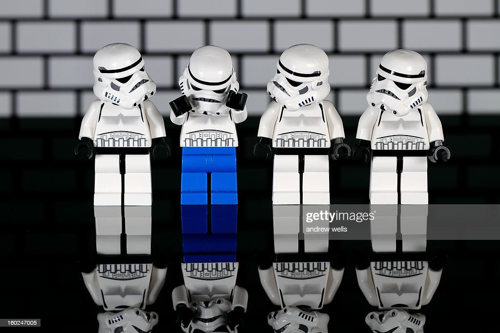 CONTENT] Lego Star Wars storm troopers in a line.