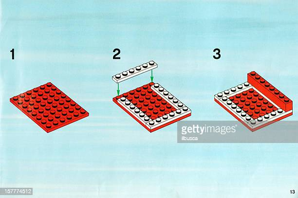 Lego giocattolo manuale di istruzioni libro.