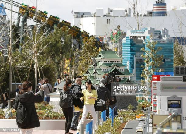 Legoland Japan which opens April 1 2017 in the central Japan city of Nagoya is revealed to the press on March 17 Japan's first outdoor Legoland theme...