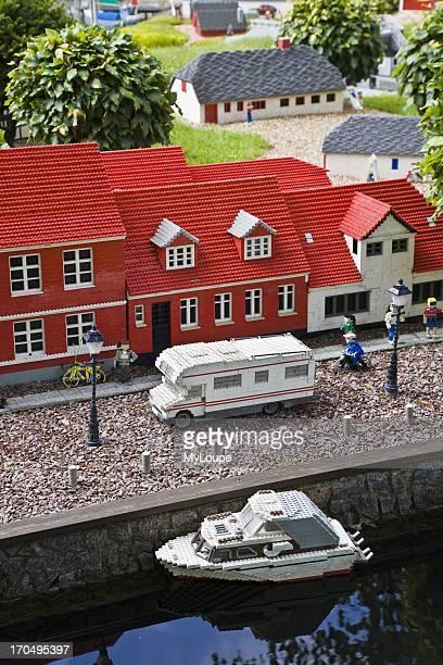 Legoland model of the Danish town of Ribe Billund Denmark