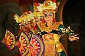 Legong dancers, Ubud Bali, Indonesia