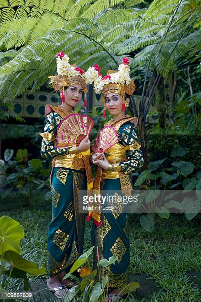 Legong dancers wearing traditional clothing