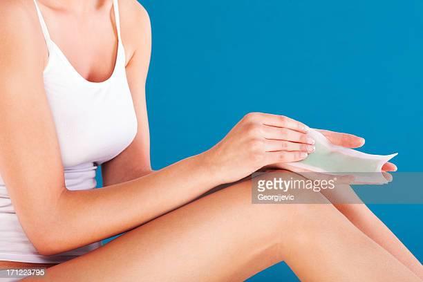 depilating le gambe