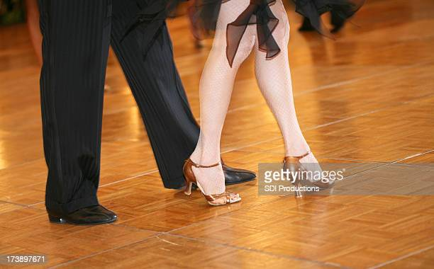 Legs of a Ballroom Dance Couple