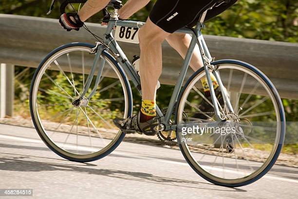 Legs of a Competing Cyclist