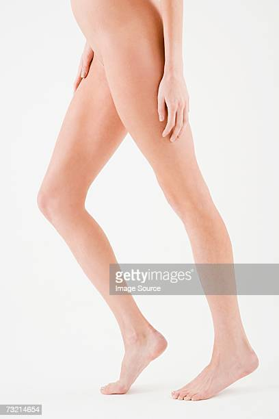 Legs of a nude woman