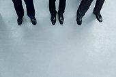 Legs of Businessmen, China, Beijing, Copy Space